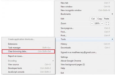 Cara Menghapus atau Membersihkan Cache Browser Di Google Chrome