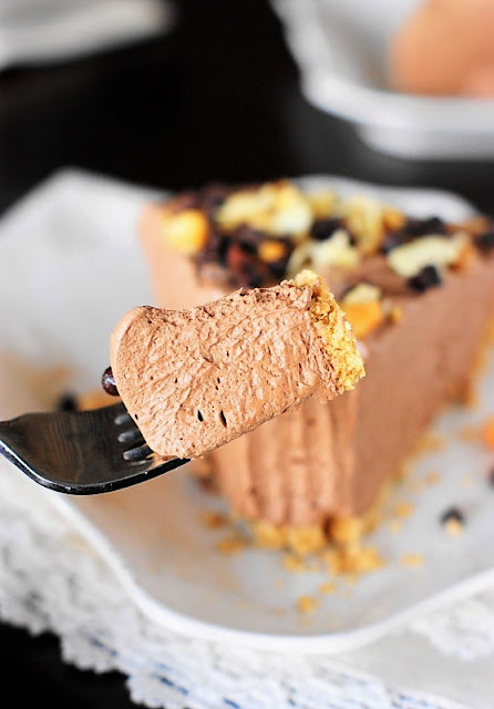 Bite of Easy Chocolate Mousse Pie Image