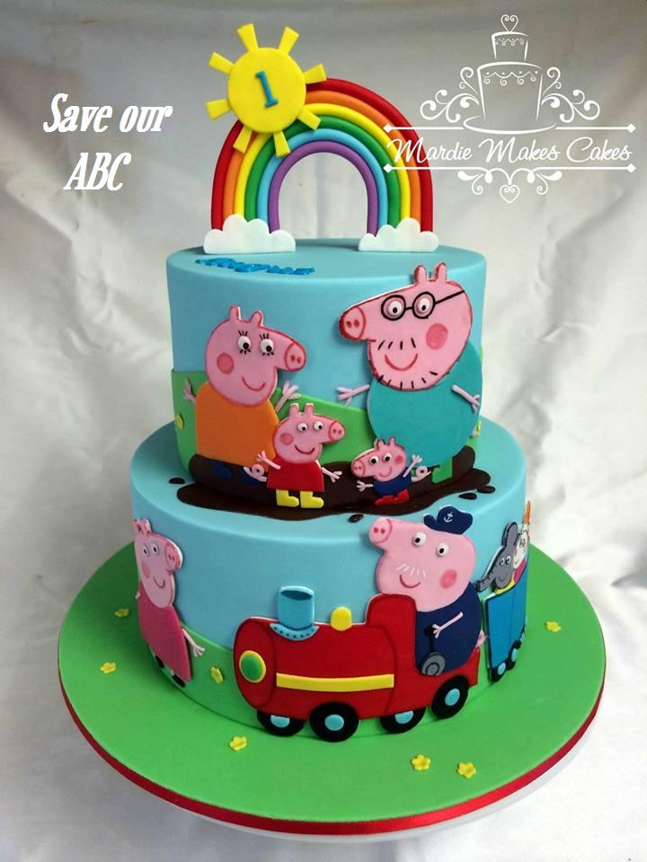 Peppa Pig Cake Save our ABC Mardie Makes Cakes