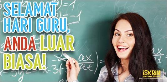 Selamat Hari Guru, Anda Luar Biasa!