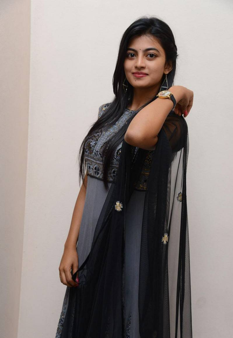 Anandhi Stills At Movie Platinum Disc Function In Blue Dress