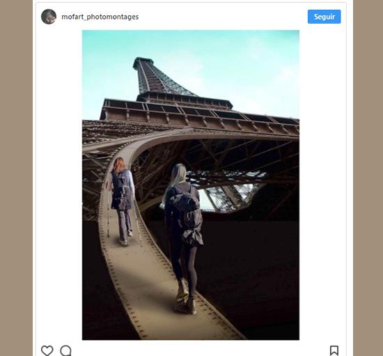 Imagens mais incrivelmente editadas - Escalando a Torre Eiffel