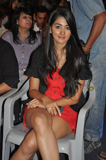Pooha Hegde in Lovey short Red Dress