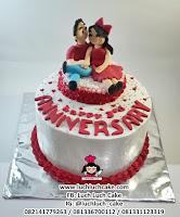 Anniversary Cake Romantis Couple