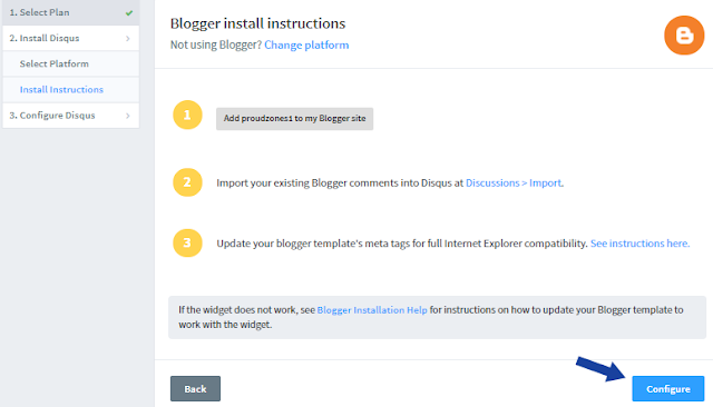 Adding Disqus system to Blogger