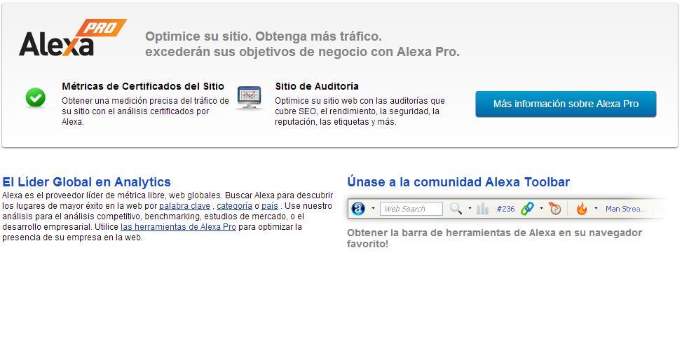 Analítica web con Alexa