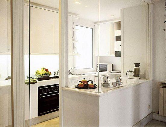Oppure Se Non Volete La Cucina A Vista (ma Purtroppo Questa è Senza Una  Finestra) Queste Idee Potrebbero Fare Per Voi, La Cucina Rimane Otticamente  Separata ...