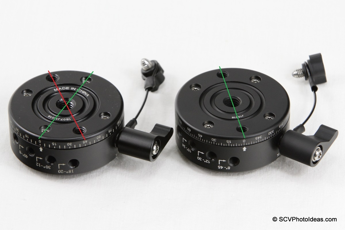 Sunwayfoto DDP-64S PIR older and updated bottom mounting holes comparison