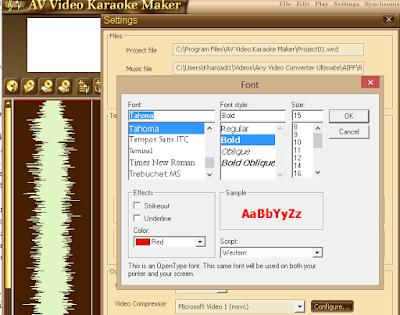 Cara Mudah Membuat Video Karaoke Sendiri menggunakan AV Video Karaoke Maker