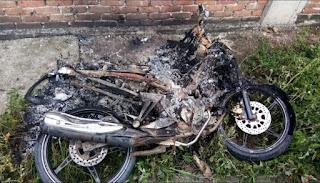 Polres Minsel Dalami Pembakaran Sepeda Motor Di Ratatotok