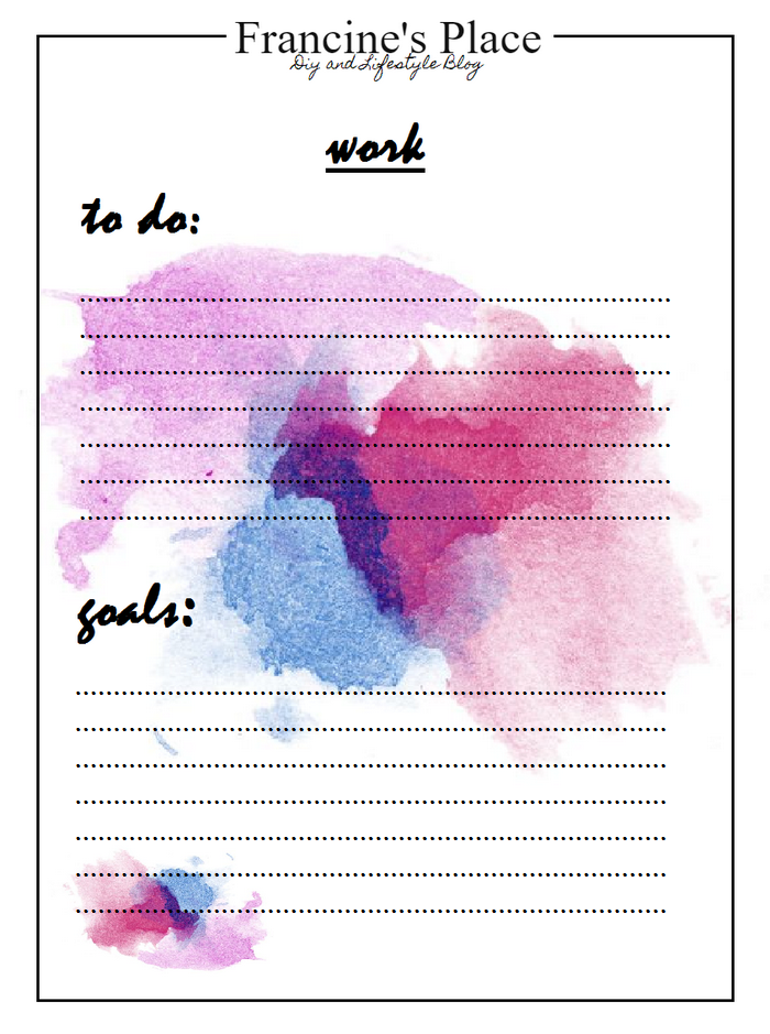watercolor to do list printable