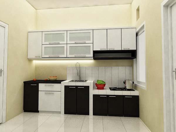 Desain interior rumah dapur minimalis