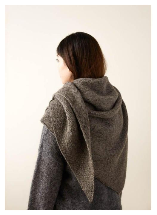 tutorial and pattern for a wool wrap