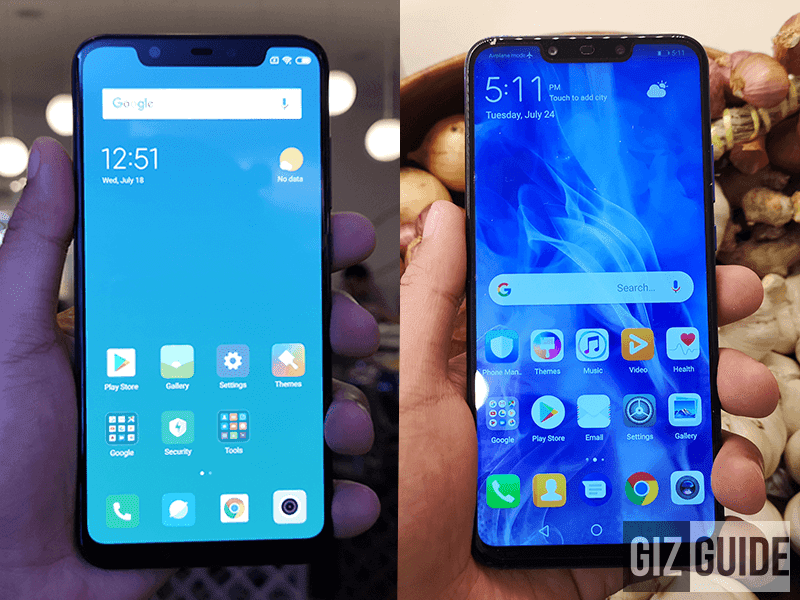 Xiaomi Mi 8 vs Huawei Nova 3 Specs Comparison