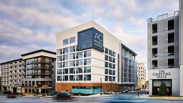 The AC Hotel Raleigh is located in bustling North Hills, an area called midtown in Raleigh, N.C.