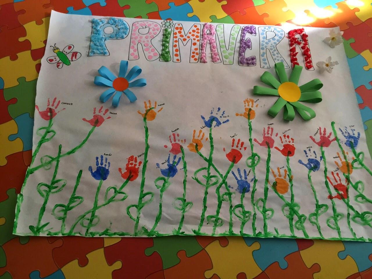 Mis nubecitas de infantil mural de la primavera for Caracteristicas de un mural