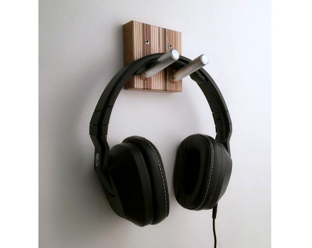 Modern Wood Headphone Hook
