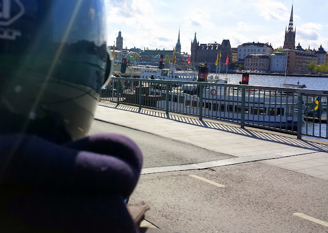 Riding a motorcycle in Stockholm, Sweden  |  A speedier bicycle on afeathery*nest  |  http://afeatherynest.com