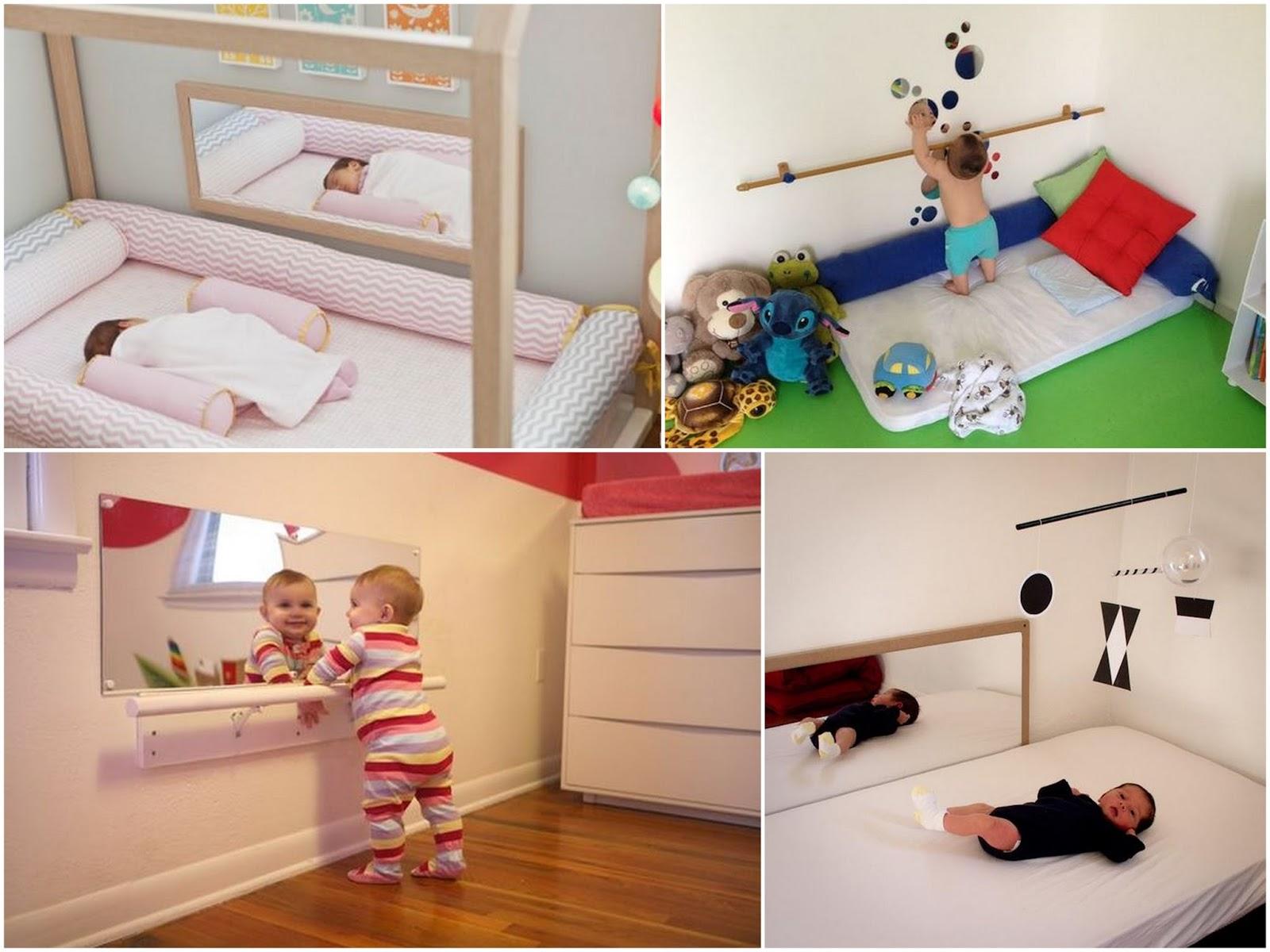 Di Rio Da Ruiva Como Montar Um Quarto Montessoriano ~ Espelho Para Quarto Infantil E Quarto De Bebe Cavalinho