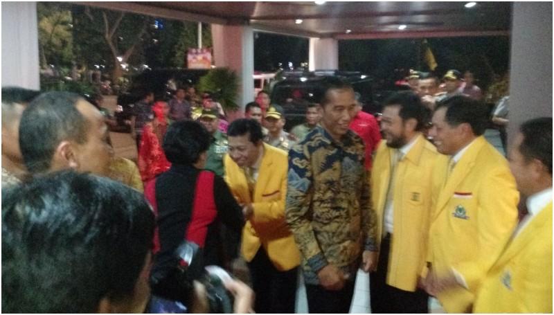 Jokowi dan Megawati tiba di penutupan Rapimnas Golkar