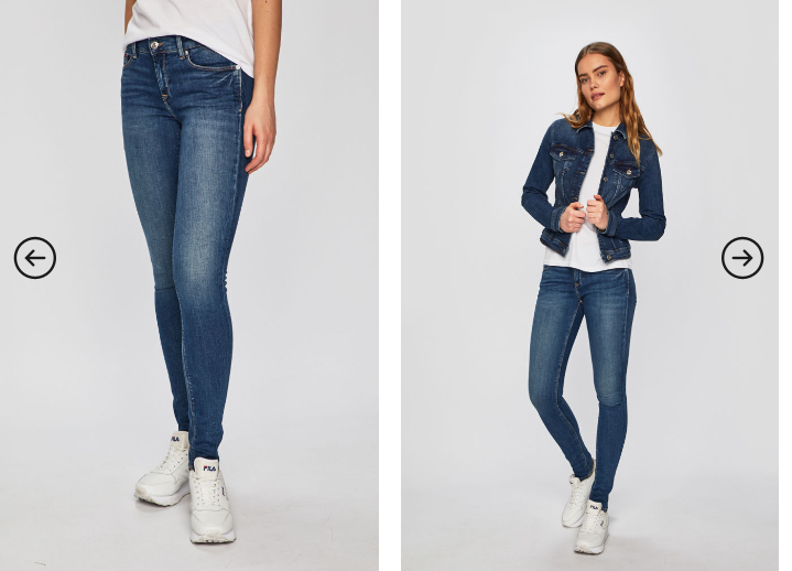 Tommy Jeans - Jeansi originali de dama albastri slim
