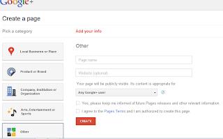 Membuat Widget Google+ Page pada Blogspot