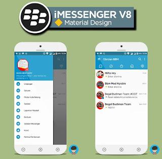 Apps BBM Mod Material Design Versi 3.1.0.13 (New iMessenger)
