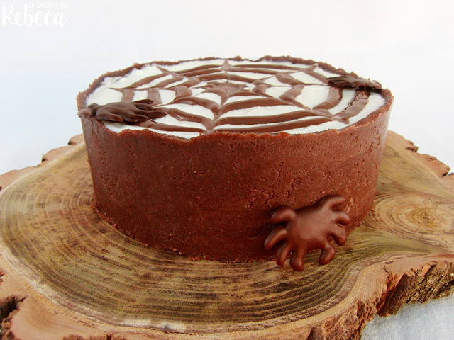 Tarta de queso y chocolate (para Halloween)