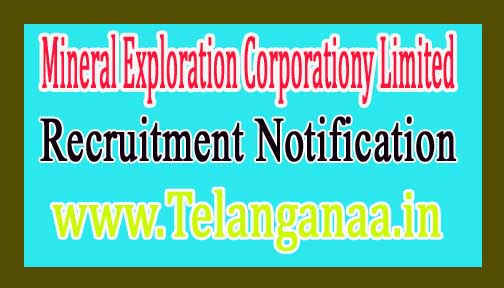 Mineral Exploration Corporationy Limited MECL Recruitment Notification 2017