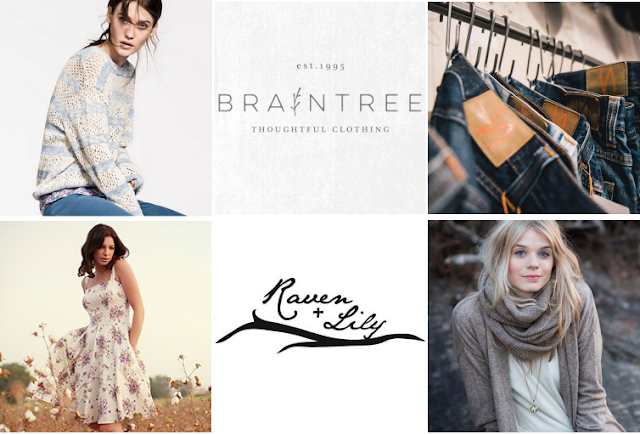 Look for ethical fashion brands.  Here you have Armed Angels, Braintree, Nudie Jeans, People Tree, Raven + Lily and A/BARENESS.