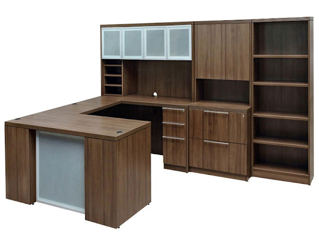 best modern home office u desk shaped with hutch for sale