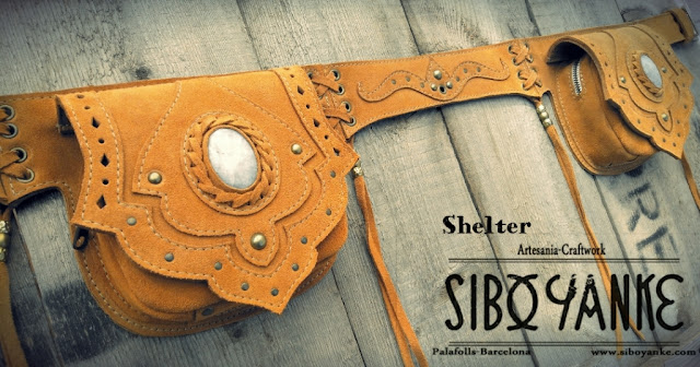 Leather Utility Belt+Festival Belt+Gemstones+Labradorite+Moonstone+Sibo Yanke+Waist Bag
