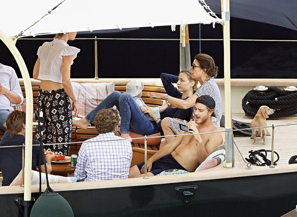 Princess Caroline, Pierre Casiraghi, Beatrice Borromeo and Stefano Ercole Carlo Casiraghi, Charlotte Casiraghi on holiday