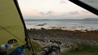 The view from the tent on Berneray