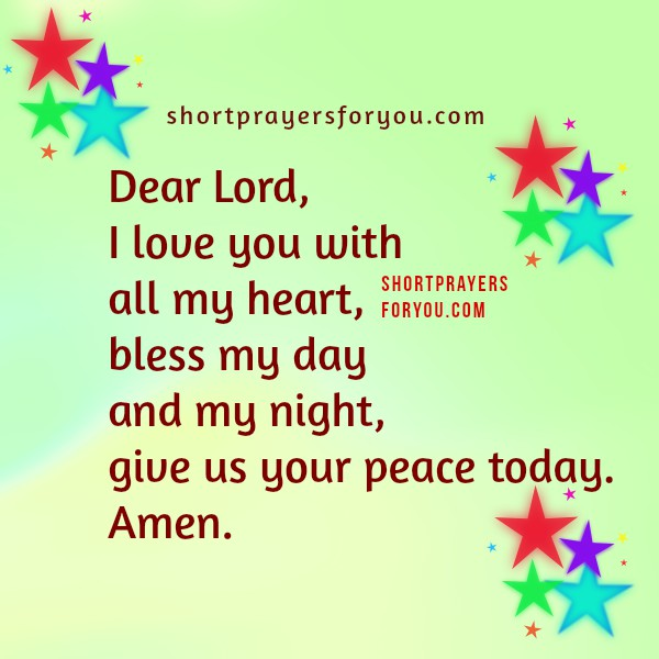 children short prayers with images, thank you Lord for this day, night, kids prayers with nice images by Mery Bracho