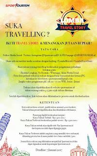 Lomba Menulis Artikel Tentang Traveling - #TravelStory SPORTOURISM