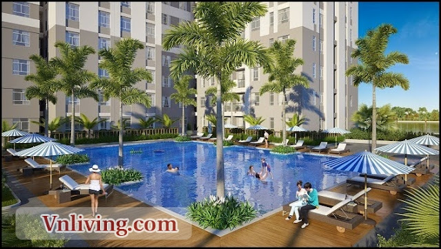 Swimming in Masteri Thao Dien Apartment for rent