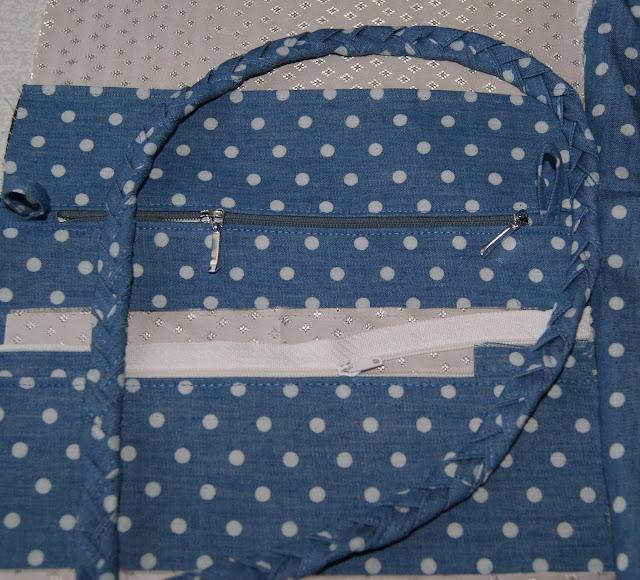 сумки из ткани, сумка в горошек, маленькая сумочка