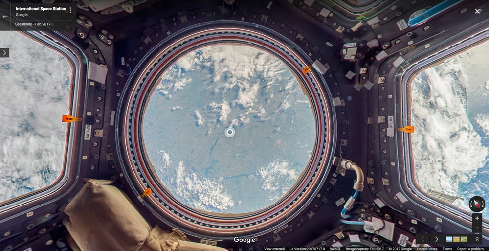 Google starts now mapping the International Space Station