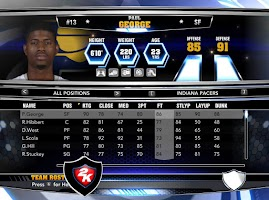 NBA 2k14 Custom Roster Update v4 : February 21st, 2015 - Pacers Roster - Without Injuries