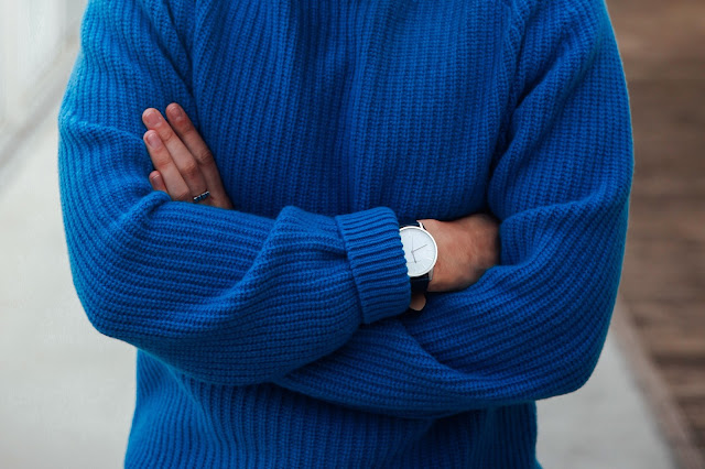 lambswool blue jumper by gant