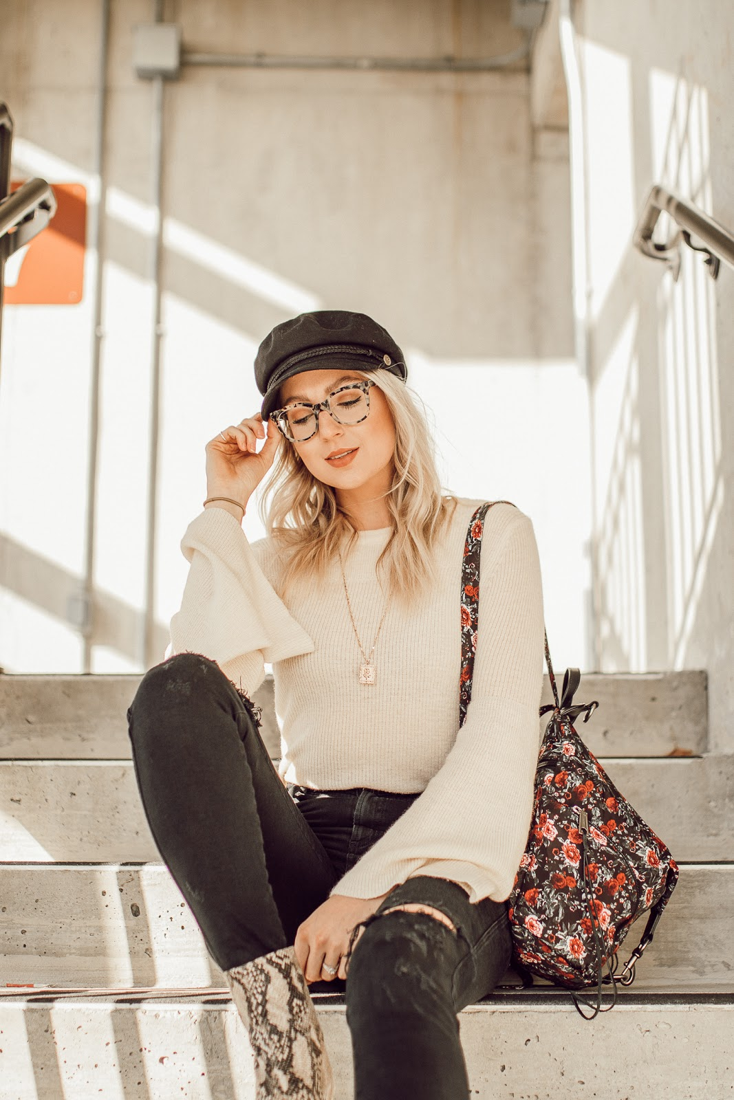 Bonlook Jack & Norma frames / fall outfit with lots of accessories