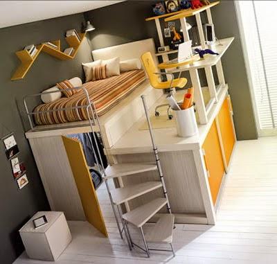 cama juvenil cuarto pequeño
