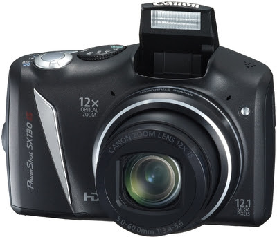 Canon Powershot SX130 IS Point & Shoot (Black)