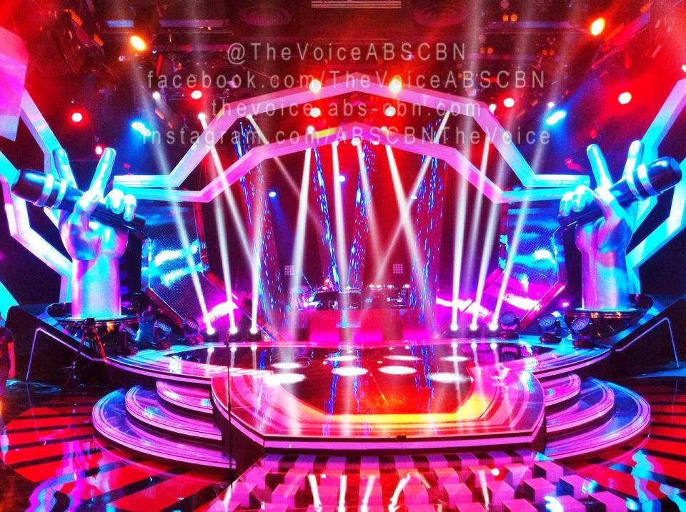 The Voice of the Philippines stage for Kids Edition