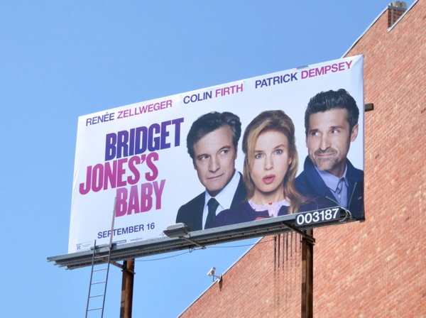 Bridget Joness Baby movie billboard