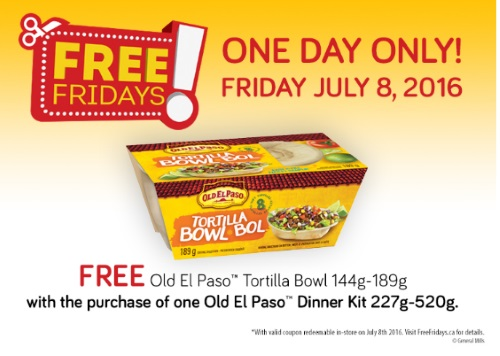 *Reminder* Free Old El Paso Tortilla Bowls Coupon
