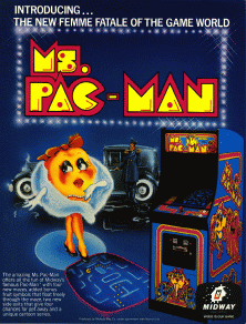 Ms Pac Man+arcade+game+portable+art+flyer