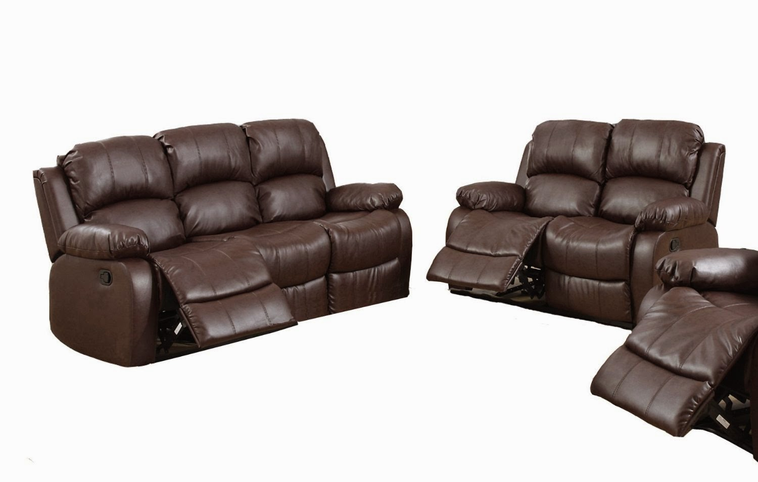 Cheap reclining sofa and loveseat sets april 2015 for Leather sofa and loveseat set