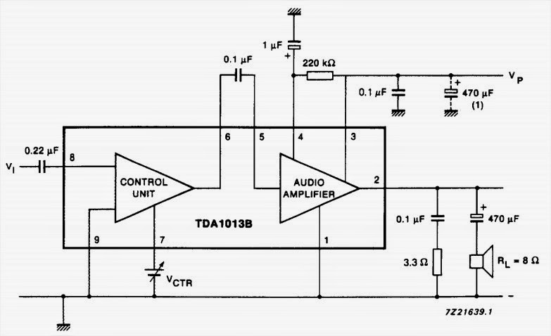 4 W audio power amplifier with DC volume control